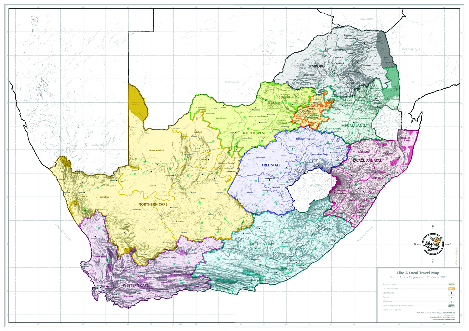 scratch map south africa Lal Large South African Map Like A Local Travel scratch map south africa